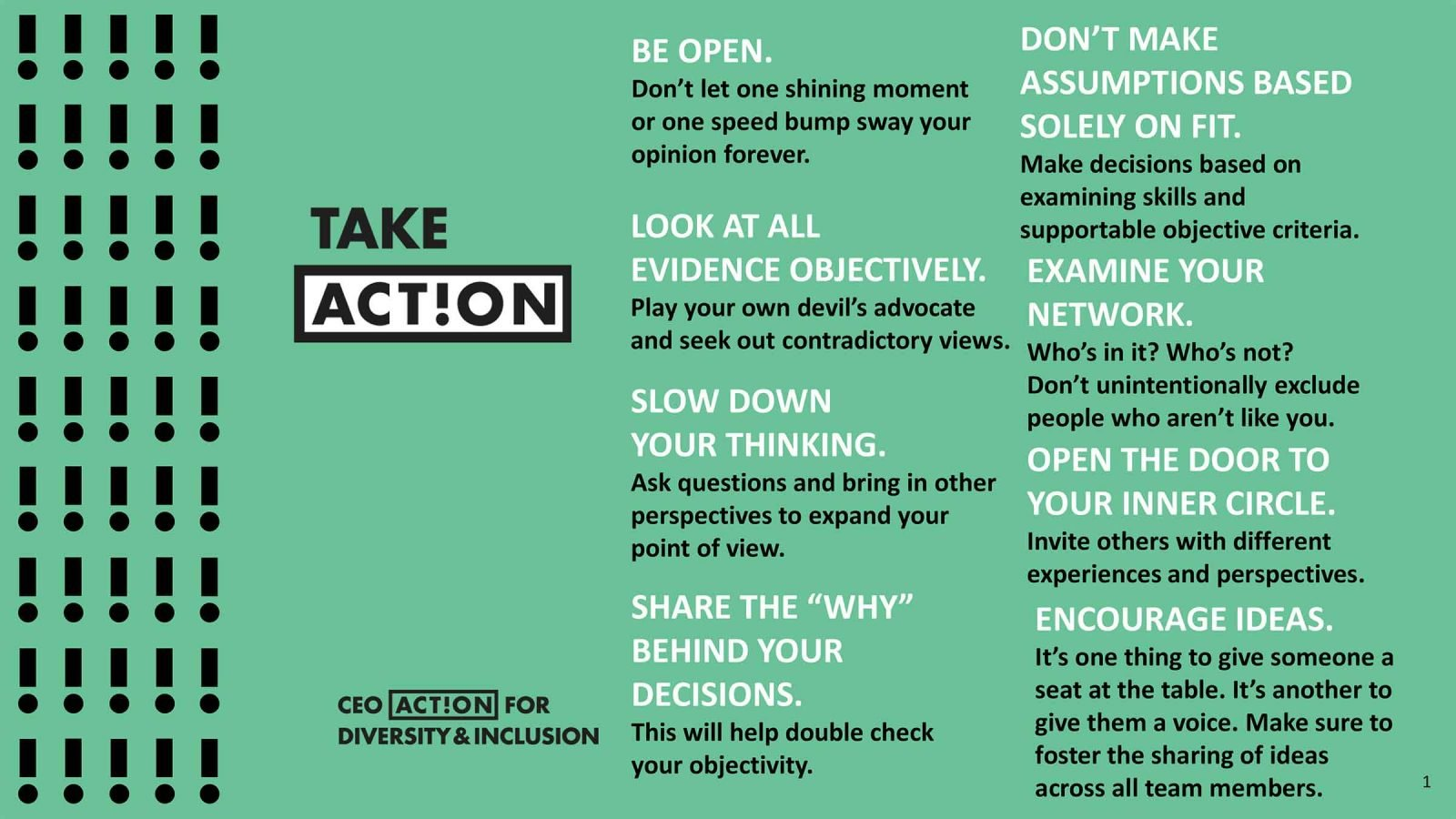 8 CEO Actions